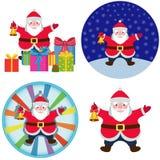 Il Babbo Natale dipinto a mano immagini stock