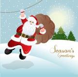 Il Babbo Natale, disegno della cartolina d'auguri Fotografie Stock Libere da Diritti