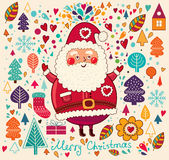Il Babbo Natale divertente Fotografie Stock
