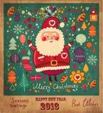 Il Babbo Natale divertente Immagini Stock
