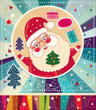 Il Babbo Natale divertente Immagini Stock Libere da Diritti