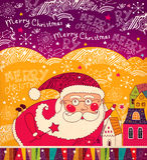 Il Babbo Natale divertente Fotografia Stock