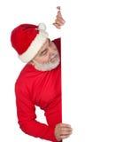 Il Babbo Natale divertente con il manifesto Immagini Stock Libere da Diritti