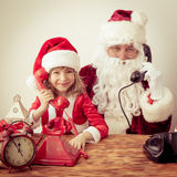 Il Babbo Natale e bambino Fotografia Stock Libera da Diritti