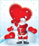 Il Babbo Natale e cuore Immagini Stock