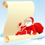 Il Babbo Natale e la sua lista di obiettivi Immagine Stock