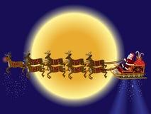 Il Babbo Natale e renna Immagine Stock
