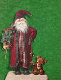 Il Babbo Natale e Rudolf la renna col naso rosso Fotografie Stock Libere da Diritti