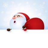 Il Babbo Natale e segno royalty illustrazione gratis