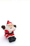 Il Babbo Natale ed albero su neve Immagini Stock Libere da Diritti