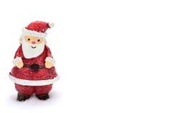 Il Babbo Natale ed albero su neve Fotografie Stock