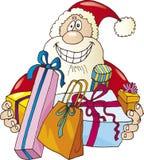 Il Babbo Natale felice con i presente Immagini Stock Libere da Diritti