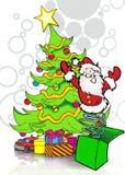 Il Babbo Natale a finestra illustrazione vettoriale