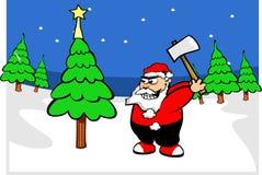 Il Babbo Natale in foresta Fotografia Stock Libera da Diritti