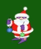 Il Babbo Natale freddo con gli ornamenti Fotografie Stock Libere da Diritti
