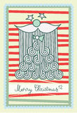 Il Babbo Natale gli che augura Buon Natale Illustrazione di Stock