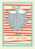Il Babbo Natale gli che augura nuovo anno felice Illustrazione Vettoriale