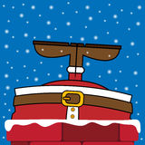 Il Babbo Natale ha attaccato nel camino Immagini Stock Libere da Diritti