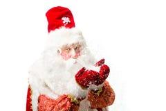 Il Babbo Natale ha isolato su priorità bassa bianca Fotografia Stock Libera da Diritti