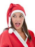 Il Babbo Natale ha sorpreso l'espressione Immagini Stock Libere da Diritti
