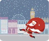 Il Babbo Natale a Londra Immagini Stock