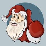 Il Babbo Natale mostra un gesto che tutto è benissimo illustrazione vettoriale