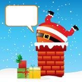 Il Babbo Natale nel camino Fotografie Stock