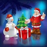 Il Babbo Natale nel legno Immagine Stock Libera da Diritti