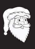 Il Babbo Natale nel nero Fotografie Stock