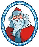 Il Babbo Natale nel telaio di inverno Fotografia Stock Libera da Diritti