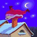 Il Babbo Natale nella difficoltà Immagini Stock Libere da Diritti