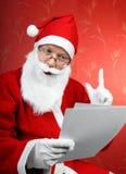 Il Babbo Natale ottiene una lettera Fotografia Stock