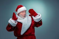 Il Babbo Natale sorpreso Fotografie Stock