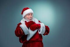 Il Babbo Natale sorpreso Immagini Stock