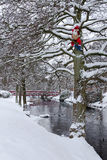 Il Babbo Natale in sosta svedese Fotografie Stock Libere da Diritti