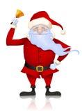 Il Babbo Natale squilla il segnalatore acustico Immagine Stock