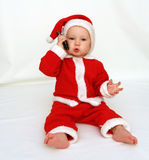 Il Babbo Natale sta chiamando Immagine Stock