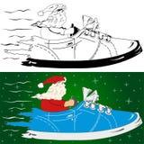 Il Babbo Natale sta venendo illustrazione vettoriale