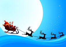 Il Babbo Natale sta venendo alla città Immagini Stock Libere da Diritti
