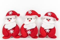 Il Babbo Natale su priorità bassa bianca Fotografia Stock