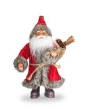 Il Babbo Natale su priorità bassa bianca Fotografia Stock Libera da Diritti