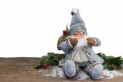 Il Babbo Natale su priorità bassa bianca Immagine Stock Libera da Diritti