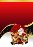 Il Babbo Natale su tempo di natale Fotografia Stock