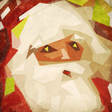 Il Babbo Natale su un vecchio documento di lerciume Immagini Stock