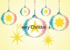 Il Babbo Natale su una slitta illustrazione di stock
