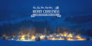 Il Babbo Natale su una slitta Fotografia Stock Libera da Diritti