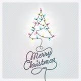 Il Babbo Natale su una slitta Fotografie Stock