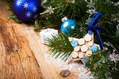 Il Babbo Natale su una slitta Immagine Stock Libera da Diritti