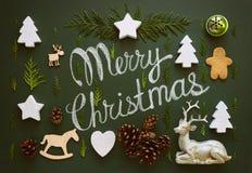 Il Babbo Natale su una slitta Immagine Stock