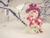 Il Babbo Natale su una slitta Fotografia Stock